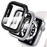 Deilin 2 Stück Hard Hülle mit Glas Bildschirmschutz, Kompatibel mit Apple Watch SE/Series 6/ Serie 5/ Series 4 40mm, Superdünne, Blasenfreie, PC All-Aro& Schutzhülle für iWatch SE/6/5/4 40mm