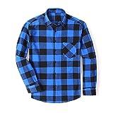 KAKAYO Camisa a Cuadros de algodón de los Hombres Adelgazan el otoño del Resorte Masculino Camisas de Manga Larga 4XL 5XL 6XL (Color : DTF22, Size : Asian Size L)