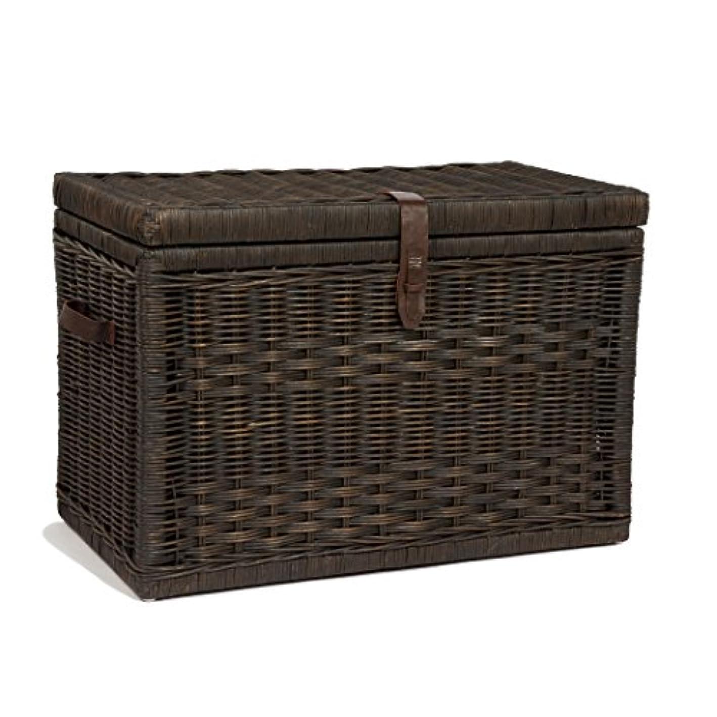 The Basket Lady Wicker Storage Trunk | Wicker Storage Chest, Large (30
