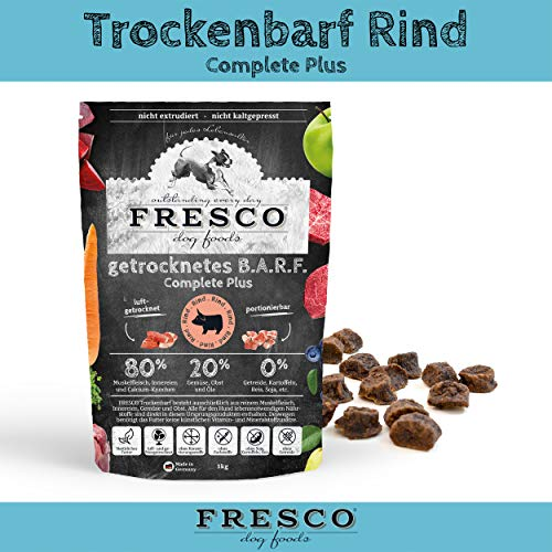 Fresco Dog Trockenbarf Complete Plus Rind 1kg