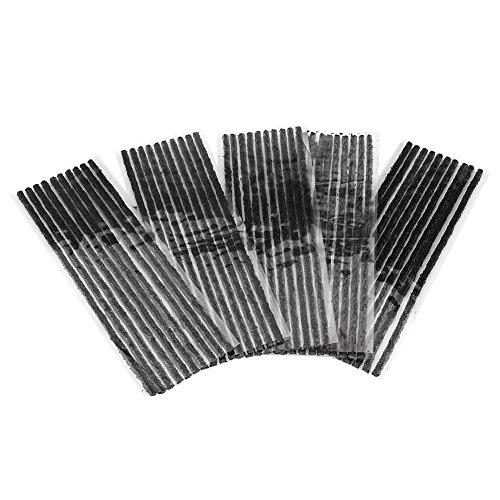Corde di riparazione pneumatici per auto, strisce di riparazione foratura pneumatici in gomma 50 pezzi senza bisogno di colla Grande funzione senza perdite