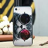 YSDSBM para el Caso del patrón iPhone X 5 5S 6 6S 7 8 Plus X Cute Cat Animals Cover iPhone 7Plus 8 8Plus Funda de Silicona Suave TPU Capa Shell