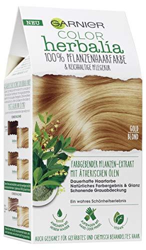Garnier Color Herbalia Goldblond, 100 % Pflanzenhaarfarbe, pflanzliches Colorieren, vegan, 3er Pack(3 x 1 Stück)
