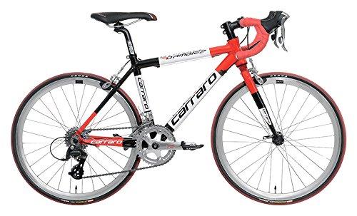 Carraro 903 D'AMBIEZ - Bicicleta de carreras para niño, 22 pulgadas, rojo/negro, S