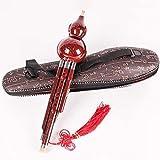 Chino hecho a mano de bambú Hulusi, calabaza, flauta de Cucurbita, instrumento musical étnico con...