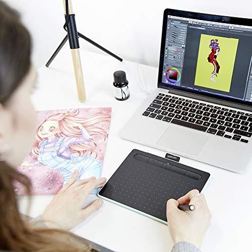 Wacom Intuos S pistazie Stift-Tablett-Mobiles Zeichentablett (zum Malen & Fotobearbeitung mit druckempfindlichem Stift & Bluetooth & 2 Softwaredownloads) - Ideal für Home-Office & E-Learning