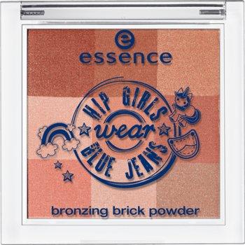 Essence Hip Girls wear blue jeans bronzing brick powder Nr. 01 feel the fun & catch the sun Inhalt: 6,38g Bronzer mit 9 perfekt abgestimmten Farben für einen schimmernd gebräunten Teint.
