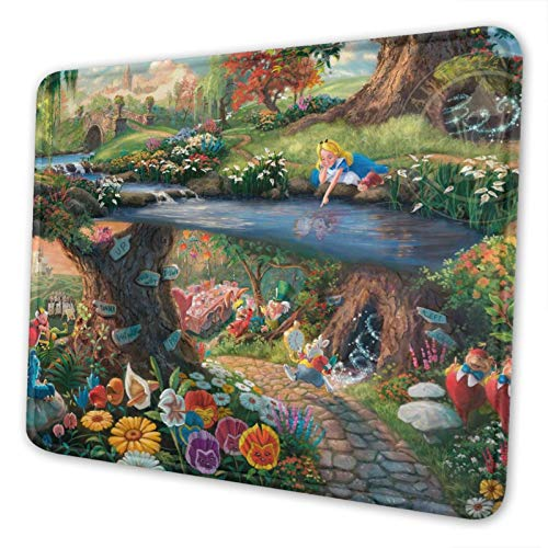 GPerlaAlva Alice in Wonderland Mouse Pad Home Office Computer Gaming Mouse Pad Multiple Size 7 x 8.6 in