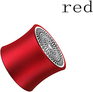 TDCQQ Bluetooth Speakers, Portable Bluetooth V4.2 Wireless Speaker with 10 Hr Playtime, IPX5 Waterproof for Travel, Camping, Shower and Outdoors (Color : Red)