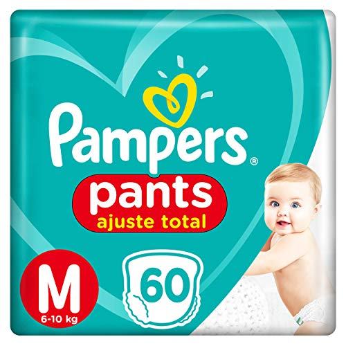 Fralda Pampers Pants Ajuste Total M 60 Unidades, Pampers