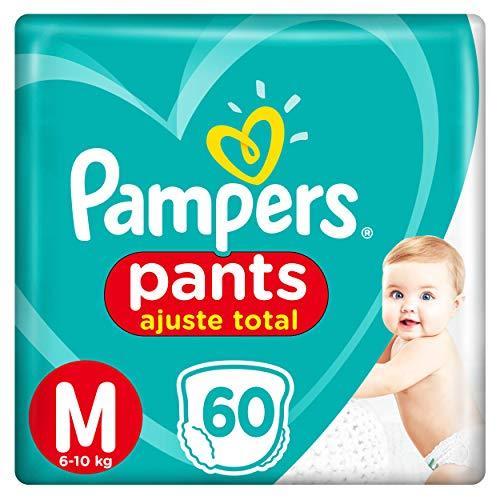Fralda Pampers Pants Ajuste Total M 60 Unidades, Pampers