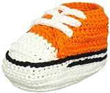 Jefferies Socks Unisex-Baby Newborn Sneaker Bootie, Orange, Newborn