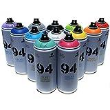 Montana MTN 94 - Juego de 12 pinturas en aerosol para arte callejero (400...