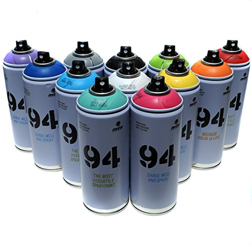 Montana MTN 94 Spray Paint 400ml Popular Colors Set of...