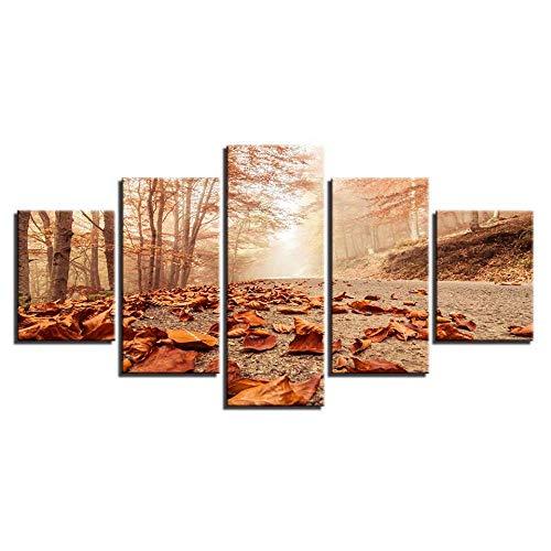 Nobrand foto's decoratie voor de woonkamer, 5 stuks, rode koptelefoon, muziek, poster, schilderij op canvas, Art 20x35 20x45 cm, zonder lijst