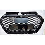 JZLMF Rejillas Frontales Frente Deporte Hexagonal de Malla de Nido de Abeja Tapa de la Parrilla Negro Brillante for Audi A3 / S3 8V 2017-2019 Accesorios del Coche