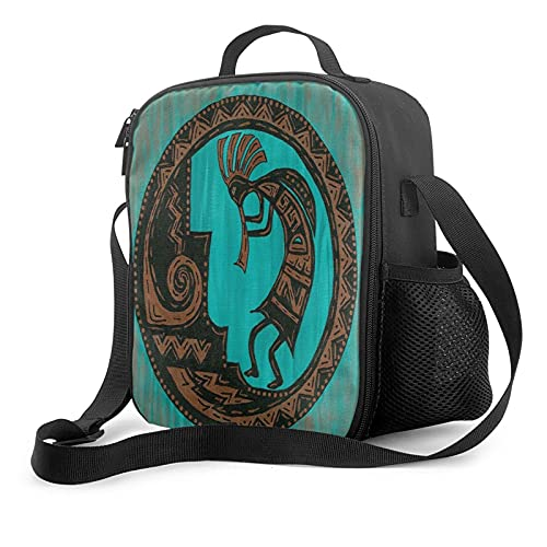 Southwestern Native American Kokopelli Lunch Bag Insulated Lunch Box Waterproof Reusable Tote For Adults And Kids With Work Picnic Travel