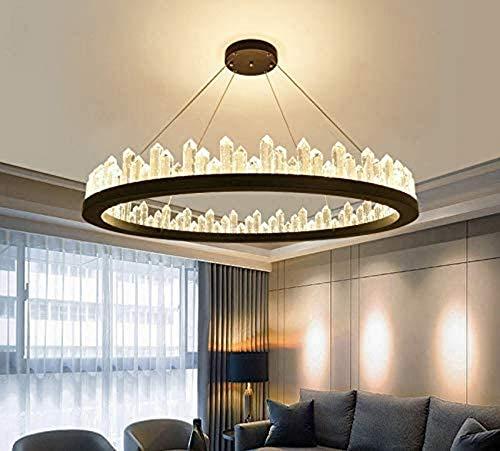 N/Z Equipo para el hogar Diseño de Anillo Redondo Creativo Lámpara Colgante LED Luz Blanca Ambiental Lámpara de Cristal de 1 luz para Dormitorio Cocina Junto a la Cama