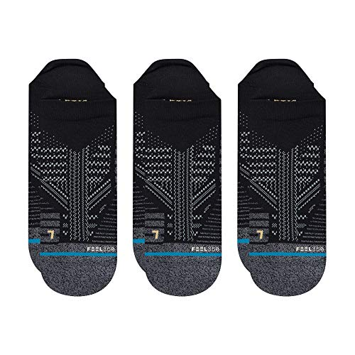 Stance Men's A258A20ATA Athletic Tab 3 Pack Sock, Black - X-Large