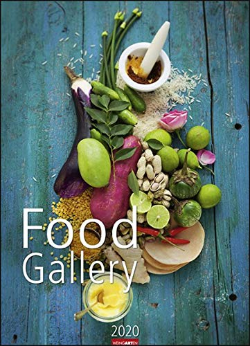 Food Gallery. Wandkalender 2020. Monatskalendarium. Spiralbindung. Format 49 x 68 cm