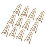 litulituhallo Caballete de mesa alto de madera de haya maciza para niños, 12 unidades