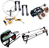 NMCPY Portable Hand Held Compound Bow Press with 2 Quad Brackets Bow String Replacement Tool for Compound Bow Archery