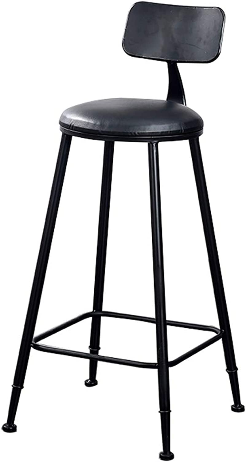DQMS High Stool Bar Stool Black Vintage Wrought Iron Casual Bar Chair