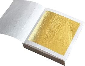 Hoja de oro 30 decoración de chocolate pastel de lámina de oro de imitación, pan pastelería cocina, maquillaje salud y spa, bronceado decoración de postres, proyecto de arte DIY