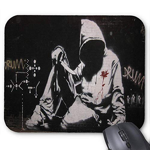 Dunkle Anarchie Graffiti Kapuze Waffen Messer Kunst Urban Mouse Pad