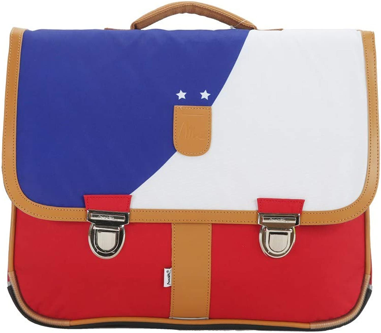 Bagtredter MSNI10FOOT Miniseri Schoolbag, Size39.5 x 16 x 33 cm, Colourbluee White Red, Multicolour
