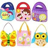 Dsaren 6 Paquets Kits de Couture Loisirs Créatifs Enfant Debutant Kit d'artisanat Sac à Main Bricolage, 6 Modèles