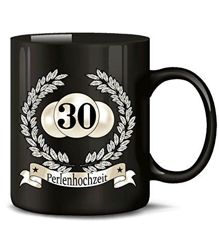 Golebros Hochzeitstag Perlenhochzeit 30 Jahre Ehe Tasse Becher Hochzeitsjubiläum Kaffee Hochzeitstassen Geschenke Hochzeitsgeschenk zum Jahrestag deko