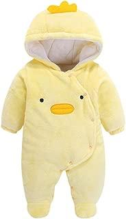 FWEIP Baby Boys Girls Long Sleeve Romper Warm Cute Cartoon Fleece Hooded Jumpsuit Plush Climb One Piece Clothes