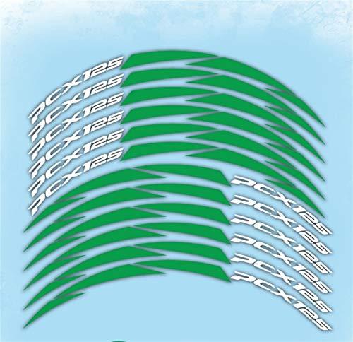 Mrjg Pegatinas de Llantas Nuevo modificación de neumáticos Pegatinas de Motocicletas Piezas de automóvil Película de Ruedas Personalidad Fronteriza Calcomanías de reflexivo for PCX 125 2018-2019