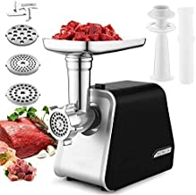 Meat Grinder Electric for Home Use with 3 Grinding Plates and Sausage Stuffing Electric Can Openers, Hand Free Can Opener (Black)