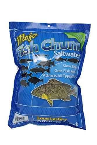 Fish Chum Mojo Dry Offshore Saltwater Fish Chum Aquatic Nutrition 2 lb, Brown, Medium Pellet...