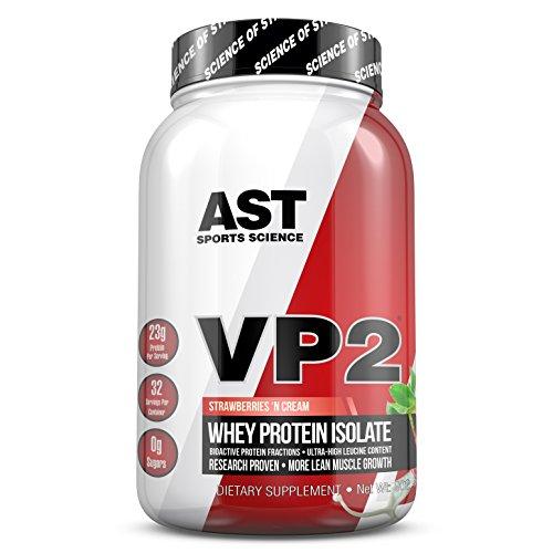 VP2 Whey Protein Isolada Hidrolisada 902g - AST Sports Science Sabor Morango