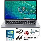 "Acer Swift 5 Ultra-Thin & Lightweight Laptop 15.6"" FHD IPS Touchscreen, Intel Quad-Core i5-8265U, Backlit Keyboard, FP Reader, Windows 10 + CUE Accessories (8GB DDR4, 256GB + 1TB SSD)"