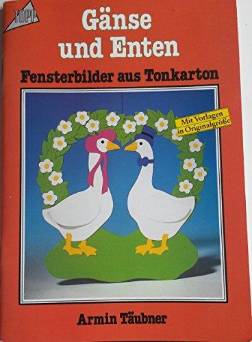 Gänse und Enten. Fensterbilder aus Tonkarton. Mit Vorlagen in Originalgröße.