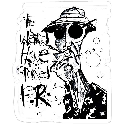 Jess-Sha Store 3 PCs Stickers The Weird Have Turned Pro, Hunter s Thompson Sticker for Laptop, Phone, Cars, Vinyl Funny Stickers Decal for Laptops, Guitar, Fridge