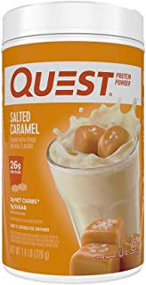 Quest Nutrition Salted Caramel Protein Powder, High Protein, Low Carb, Gluten Free, Soy Free, 1.6 Pound