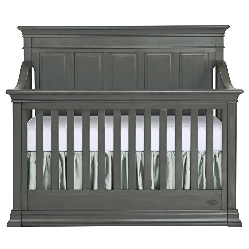 Evolur Napoli 5 in 1 Convertible Crib, Distressed Slate