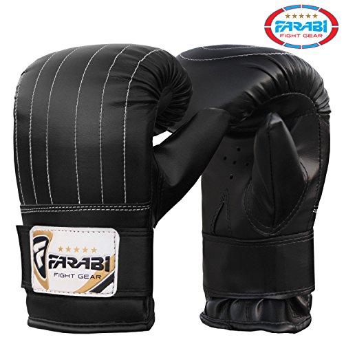 Boxsack-training Boxhandschuhe mma Handschuhe Boxsack (Black, M)