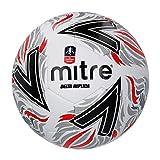 Mitre Delta Replica FA Cup - Pallone da calcio, unisex, nero/rosso, 5