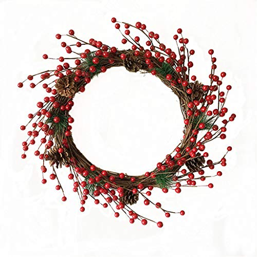 YRCHENGLI LILIL Artificial Flowers Red Berries Wreath Spring Wreath Outdoor for Front Door