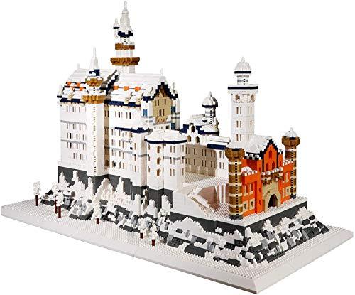 LNLJ Alemania Neuschwanstein Castle Castillo Castillo Castillo Arquitectura Modelo Bloques De Construcción Juguetes Educativos para Niños 8288PCS
