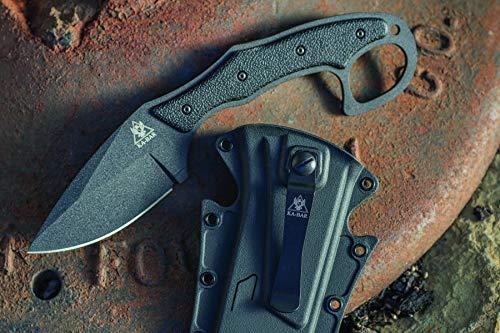 KA-BAR 2491 Tdi Pocket Strike Black Hard Plastic Sheath, Black Clip, Straight Edge