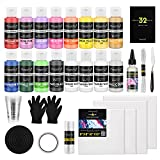 Magicfly Pintura acrílica para Pouring Paint 16 Botes de 60ml, Kit de Pinturas...