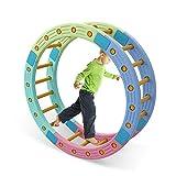 HAPPYMATY Hamsterrad Balance Rad Kletterbogen Halbkreis Rhönrad Hamsterrolle Balancespiel Kindergarten Therapie
