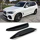 Glossy Black Side Fender Air Vent Grille Compatible with BMW X5 G05 2019 2020 2021 Performance Style Side Vent Duct Grill Insert Replacement